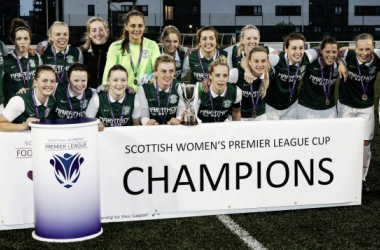 Hibernian are to move up to first in the SWPL 1, to cap a remarkable June that saw them win the SWPL Cup. Photo: John Williamson