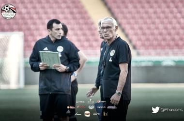 Cúper no contó con Salah para el primer partido contra Uruguay y lo reservó. Foto: Federación egipcia