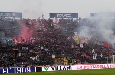 La curva del Bologna (Twitter - Bologna FC 1909)