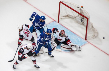 The Maple Leafs' offense was unable to produce against Kuemper. (Photo: NHL.com)