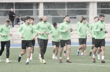 Entrenamiento del equipo el martes | Fuente: UD Almería