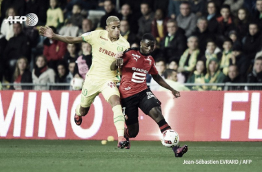 Paul-Georges Ntep battles for the ball  | Jean-Sébastien Evrard @AFP