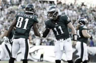 Carson Wents and Jordan Matthews star for the Eagles against the Steelers | Source: Michael Perez/AP