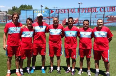 El huevo Rondina dejó de ser el técnico del Arse | Foto: Arsenal Prensa