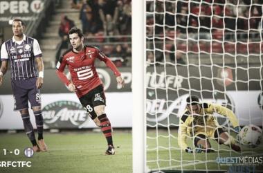 Yoann Gourcuff scores his very early winner | @OuestMedias
