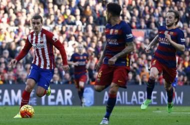 Griezmann jugó en el Camp Nou su partido 200 en Primera