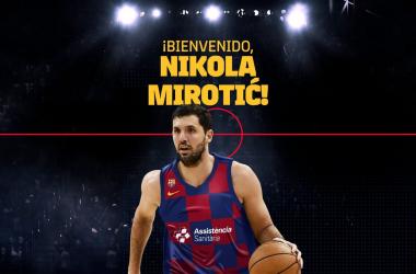 Nikola Mirotic será jugador del FC Barcelona Lassa para las próximas tres temporadas. Foto: FC Barcelona