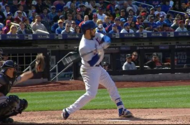 Travis d'Arnaud takes a fastball that fractures his hand. -- www.mlb.com