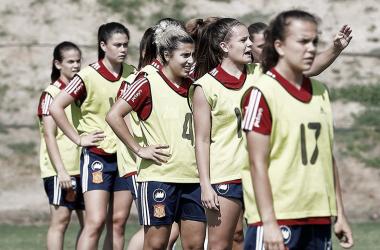 La Selección Española sub-19 prepara el Europeo en La Ciudad del Fútbol. Foto: @SeFutbolFem