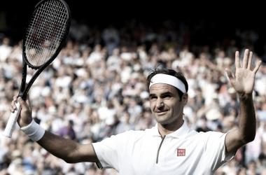Agradecimiento de Roger.Imagen-Wimbledon