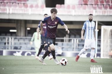 Juan Miranda ante el Club Deportivo Atlético Baleares en el último compromiso liguero disputado en el Miniestadi | Foto de Noelia Déniz, VAVEL