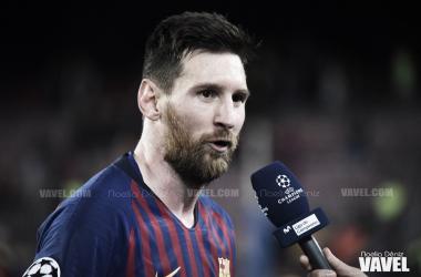 Leo Messi en el partido de ida de las semifinales de la UEFA Champions League 2018/19   Foto de Noelia Déniz, VAVEL