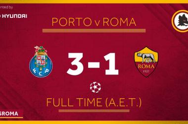 Champions League- Peccato Roma: il Porto vince 3-1 ed elimina i giallorossi!