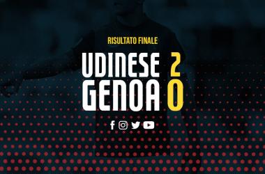 Serie A - L'Udinese prende la grinta di Tudor e batte il Genoa (2-0)