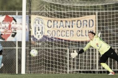 Sarah Killion notches a game-tying) penalty kick (photo courtesy of sky blue FC)