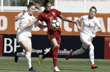 Jennifer Hermoso durante un partido / Foto: Twitter Selección Española