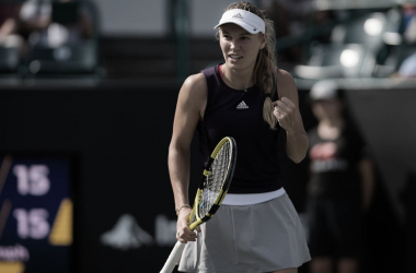 Wozniacki festeja el triunfo | Foto: WTA
