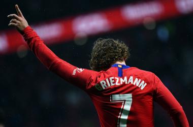 Antoine Griezmann celebrando uno de sus goles con el Atlético de Madrid   Foto: Atlético de Madrid