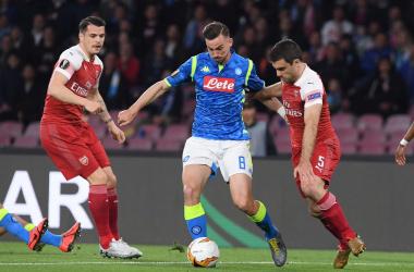 Europa League - L' Arsenal vince al San Paolo ed elimina il Napoli (0-1)