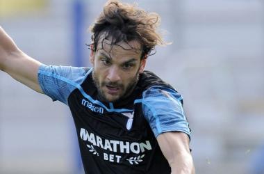 Marco Parolo potrebbe essere la novità in casa Lazio. Fonte: https://twitter.com/OfficialSSLazio