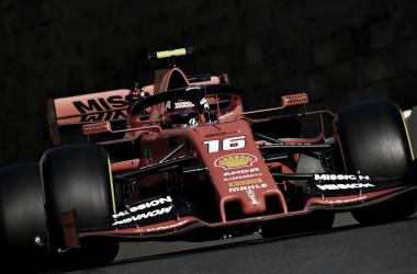 El Ferrari #16 de Leclerc | Foto: Fórmula 1