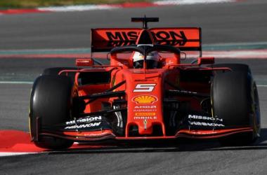 Sebastian Vettel durante la sesión matutina - Foto: Scuderia Ferrari