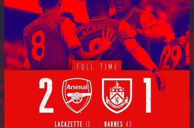 Premier League-L'Arsenal batte 2-1 il Burnley e parte bene in casa