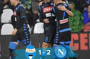 """Serie A - Il Napoli batte un'arcigna SPAL: finisce 1-2 al """"Mazza"""" di Ferrara"""