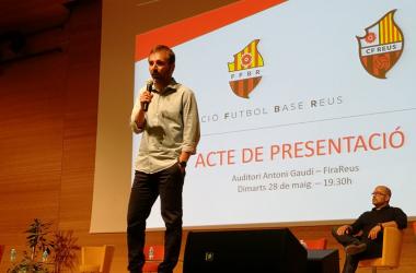 Xavi Castro en el acto de presentación de la FFBR | Foto: Andreu Rauet (VAVEL)