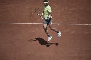 Nadal festeja el mejor punto del partido | Foto: Roland Garros
