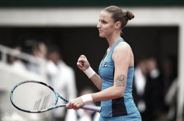 Puño cerrado y sonrisa bien alta. Imagen-WTA