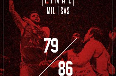 Legabasket, semifinali playoff - Sassari è corsara al Forum: battuta Milano e fattore campo ribaltato (79-86)