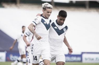 """Gran gol de Orellano para la victoria del """"Fortin"""". Foto: @Velez"""