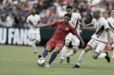 Carlos Roldán durante el amistoso ante Venezuela | Fotografía: MLS