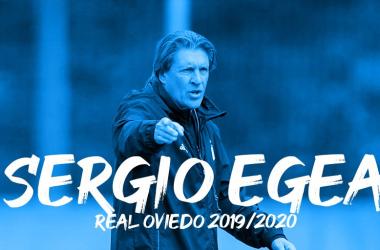 Sergio Egea, un año más entrenando al Real Oviedo