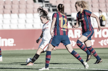 Pina en la acción del gol | Foto: Sevilla FC