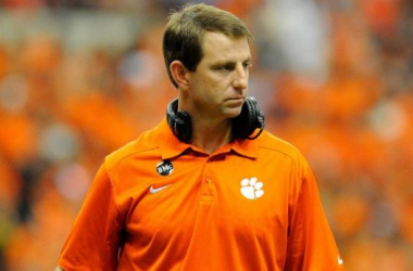 Dabo Swinney could be set to take the vacant Florida job. Image: USA TODAY Sports