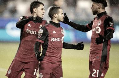 El conjunto de Totonto celebra el gol. // Imagen: Toronto FC