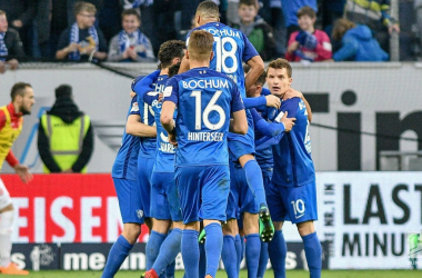 Bochum celebrating one of their goals. | Photo: Bundesliga.