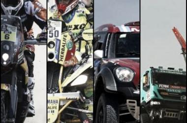 Motos: Sam Sunderlan - Cuatriciclos: Ignacio Casale - Autos: Orly Terranova - Camiones: Hans Stacey. (Fuentes: Minuto Uno; Canchallena.com; Olé)