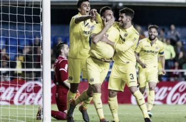 Victor Ruíz celebrando el gol frente al Leganés | Foto: Villarreal