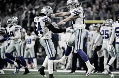 Los apoyadores Jaylor Smith y Leighton Vander Esch, pilares de la defensiva vaquera (foto Dallas Cowboys)