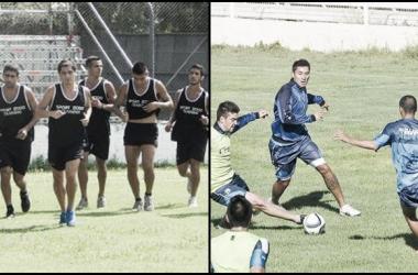 Los equipos se preparan para enfrentarse. | Fotos: @VillaDalmineOk y Diario Jornada