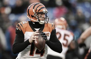 Andy Dalton en el último juego contra Baltimore // Foto: Cincinnati Bengals
