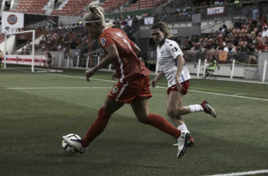 Rachel Daly with the Houston Dash | Photo: Yi-Chin Lee/Houston Chronicle