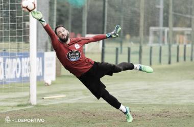 Dani Giménez en un entrenamiento del Deportivo | Foto por El Desmarque