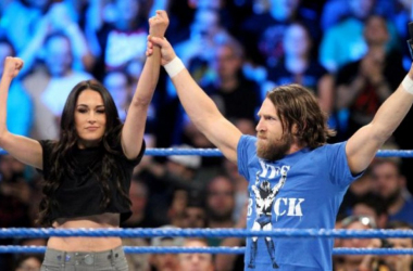 Daniel Bryan and Brie Bella. Photo credit: wwe.com