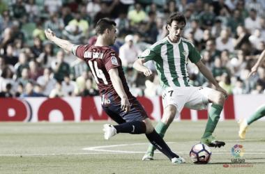 Dani García en el Real Betis-Eibar de la 2016/2017 disputado en el Benito Villamarín | FOTO: LaLiga