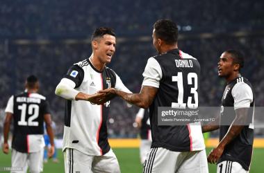 Danilo celebrates his debut goal<div>Photo Credit Valerio Pennincino/Getty Images</div>