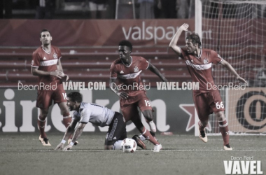 Chicago Fire holds off the aggressive Sporting Kansas City during July 13, 2016 match at Toyota Park in Bridgeview, IL